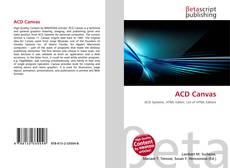 Bookcover of ACD Canvas