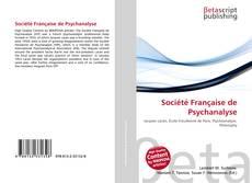 Copertina di Société Française de Psychanalyse