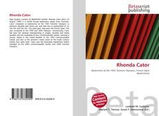 Bookcover of Rhonda Cator