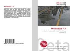 Bookcover of Felixstowe F.3