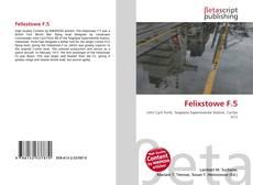 Bookcover of Felixstowe F.5