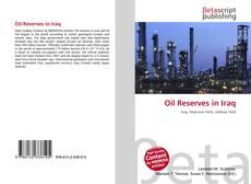 Oil Reserves in Iraq kitap kapağı