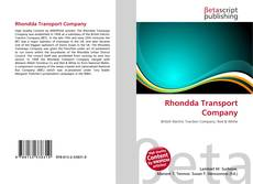 Bookcover of Rhondda Transport Company