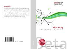 Capa do livro de Rhys Gryg