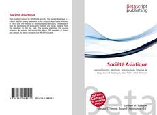 Bookcover of Société Asiatique