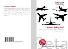 Bookcover of Dornier S-Ray 007