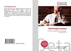 Capa do livro de Aktivlegitimation