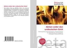 Portada del libro de Aktion wider den undeutschen Geist