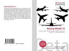 Capa do livro de Boeing Model 15