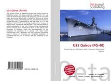 Capa do livro de USS Quiros (PG-40)