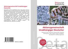 Aktionsgemeinschaft Unabhängiger Deutscher kitap kapağı
