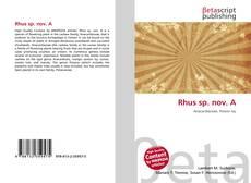 Bookcover of Rhus sp. nov. A