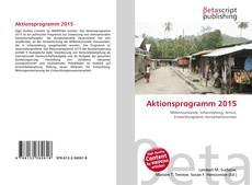 Aktionsprogramm 2015 kitap kapağı