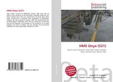 Portada del libro de HMS Onyx (S21)