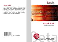 Bookcover of Rhyme Royal