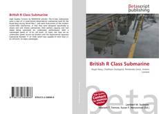 Capa do livro de British R Class Submarine