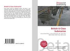 Buchcover von British U Class Submarine