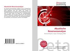 Bookcover of Akustische Resonanzanalyse