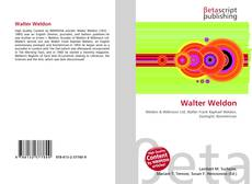 Buchcover von Walter Weldon