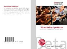 Akustisches Spektrum的封面