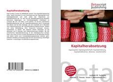 Bookcover of Kapitalherabsetzung