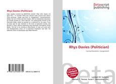 Обложка Rhys Davies (Politician)