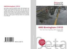 Capa do livro de HMS Birmingham (1913)