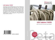 Portada del libro de USS Sabine (1855)
