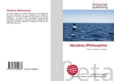 Обложка Akzidenz (Philosophie)