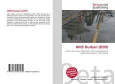 Portada del libro de HMS Durban (D99)