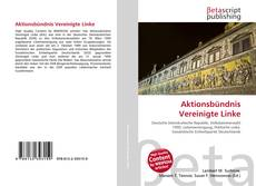 Capa do livro de Aktionsbündnis Vereinigte Linke