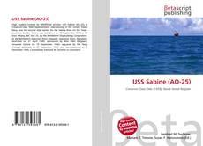 Capa do livro de USS Sabine (AO-25)