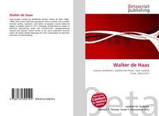 Обложка Walter de Haas