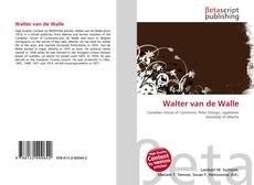 Bookcover of Walter van de Walle