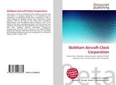 Buchcover von Waltham Aircraft Clock Corporation