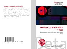 Bookcover of Robert Couturier (Born 1905)