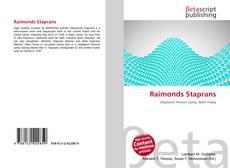 Capa do livro de Raimonds Staprans
