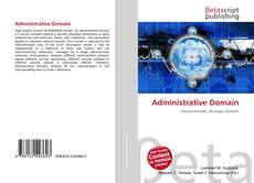 Bookcover of Administrative Domain