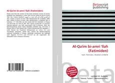 Capa do livro de Al-Qa'im bi-amri 'llah (Fatimiden)