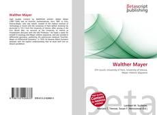 Buchcover von Walther Mayer