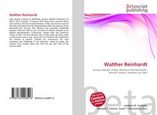 Bookcover of Walther Reinhardt