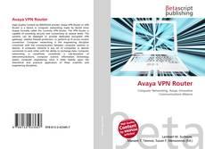 Capa do livro de Avaya VPN Router