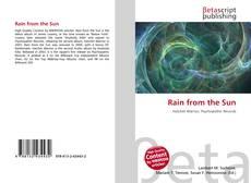 Rain from the Sun kitap kapağı