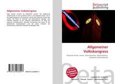 Borítókép a  Allgemeiner Volkskongress - hoz