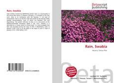 Bookcover of Rain, Swabia