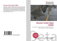 Capa do livro de Russian Cutter Opyt (1806)