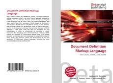 Borítókép a  Document Definition Markup Language - hoz