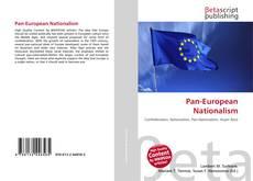 Bookcover of Pan-European Nationalism