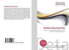 Capa do livro de Walton Rowing Club