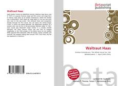 Bookcover of Waltraut Haas